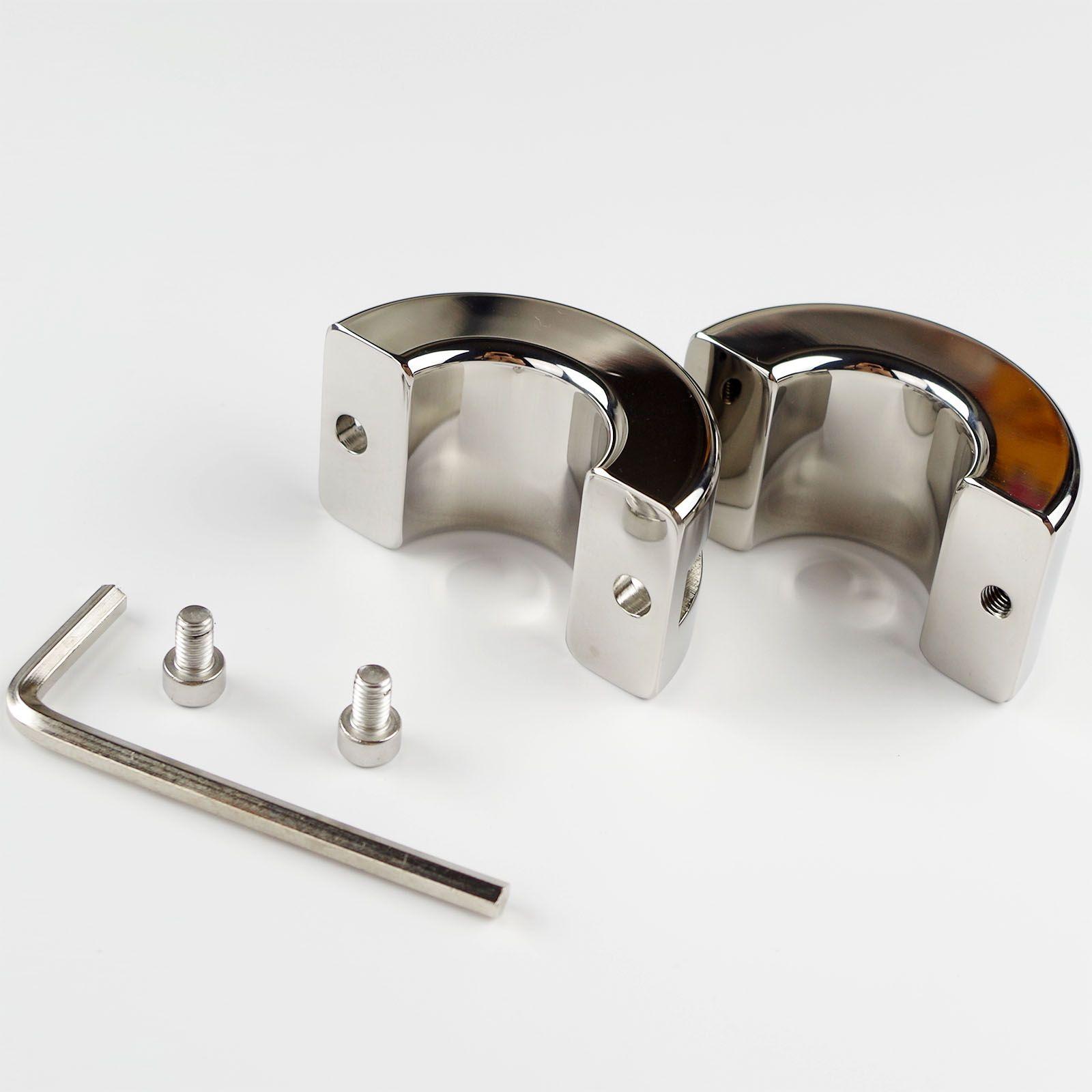 Aşırı Cockrings Paslanmaz Çelik Katı Sedye Skrotum Testis Gerilmiş Esaret Dişli Topu Ağırlıklar Erkek için CBT Oyuncak