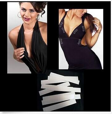 سيدة الجسم غير التعرض الشريط جهين لا الصدرية اللباس أشرطة الأزياء الخفية 20 قطعة / الحزمة 10 حزم / الكثير الشحن مجانا