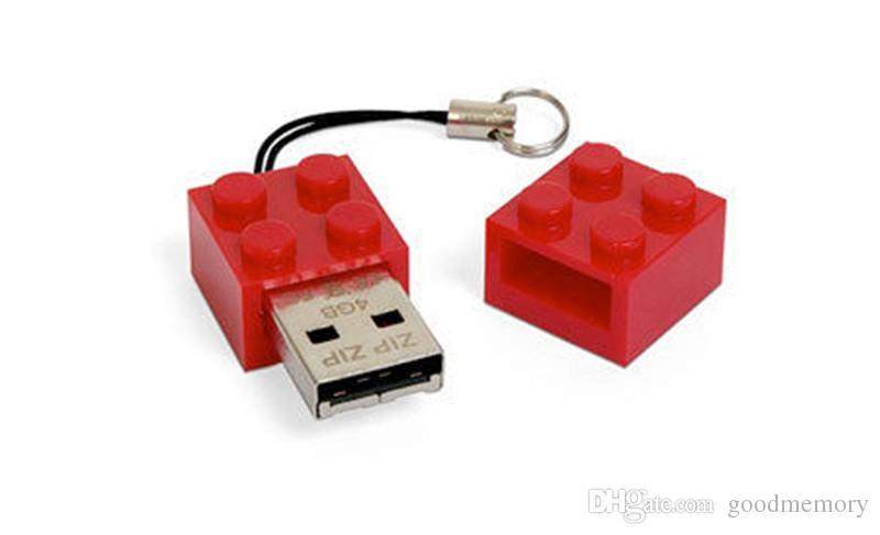 2015 New arrival USB stick 16GB 32GB 64GB Lego brick block USB 2.0 ...