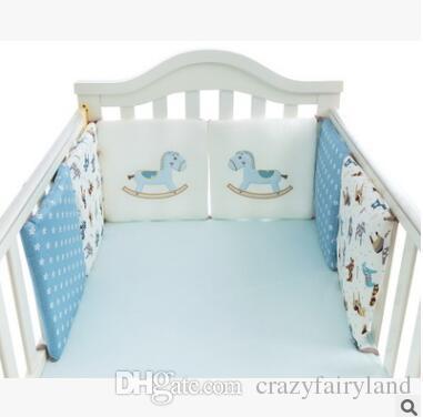 الكرتون الحيوان سرير الوفير 6 قطع الطفل السرير الوفير في سرير المهد الوفير الطفل حامي السرير مصدات الوليد طفل سرير الفراش مجموعة