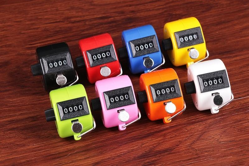Contador contador de Contagem mecânica de Alta qualidade Colorido Mão Tally tasbih Contador de freqüência contador de contador de temporizador 120 pcs # FJ537