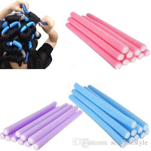 New Arrivals10 Pcs Soft Foam Bendy Twist Curler Sticks DIY Hair Design Maker Curl Roller Tool