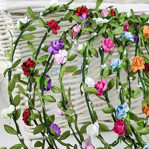 Бохо Леди девушка цветочный цветок фестиваль свадьба гирлянда лоб волос повязки на голову Корона аксессуары спорт Оптовая 1NMR