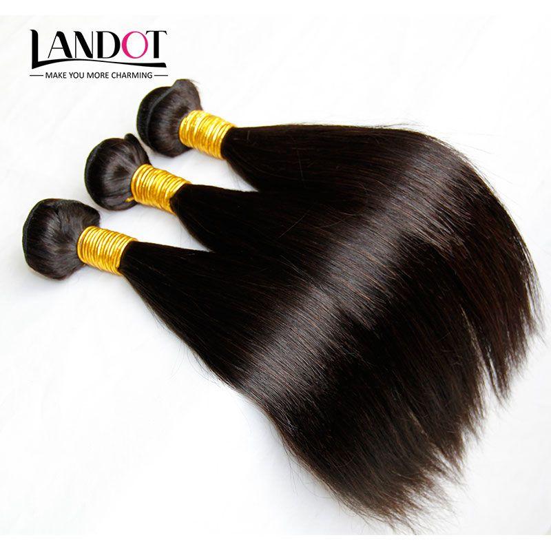 3 Adet Lot Bakire Çin Saç İpeksi Düz Çin Remy İnsan Saç Dokuma Paketler Doğal Siyah Çin Saç Uzantıları Arapsaçı Ücretsiz