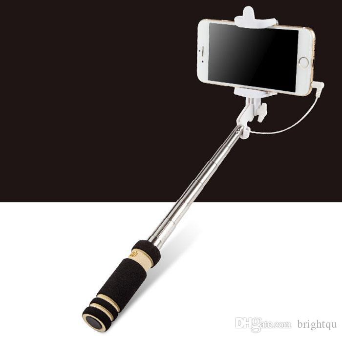il più piccolo mini tutto pieghevole estensibile in una monopiede per Android iOS universale selfie bastone supporto iphone 6 S6 BORDO NOTA 4 5 mini 50pcs