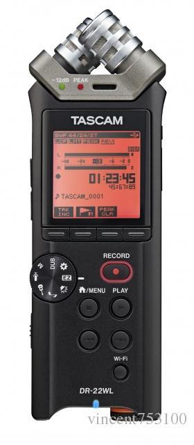 Tascam DR-22WL مسجل محمول باليد مع واي فاي - مسجل المحمولة المجمعة في الأوراق المالية الحرة الشحن