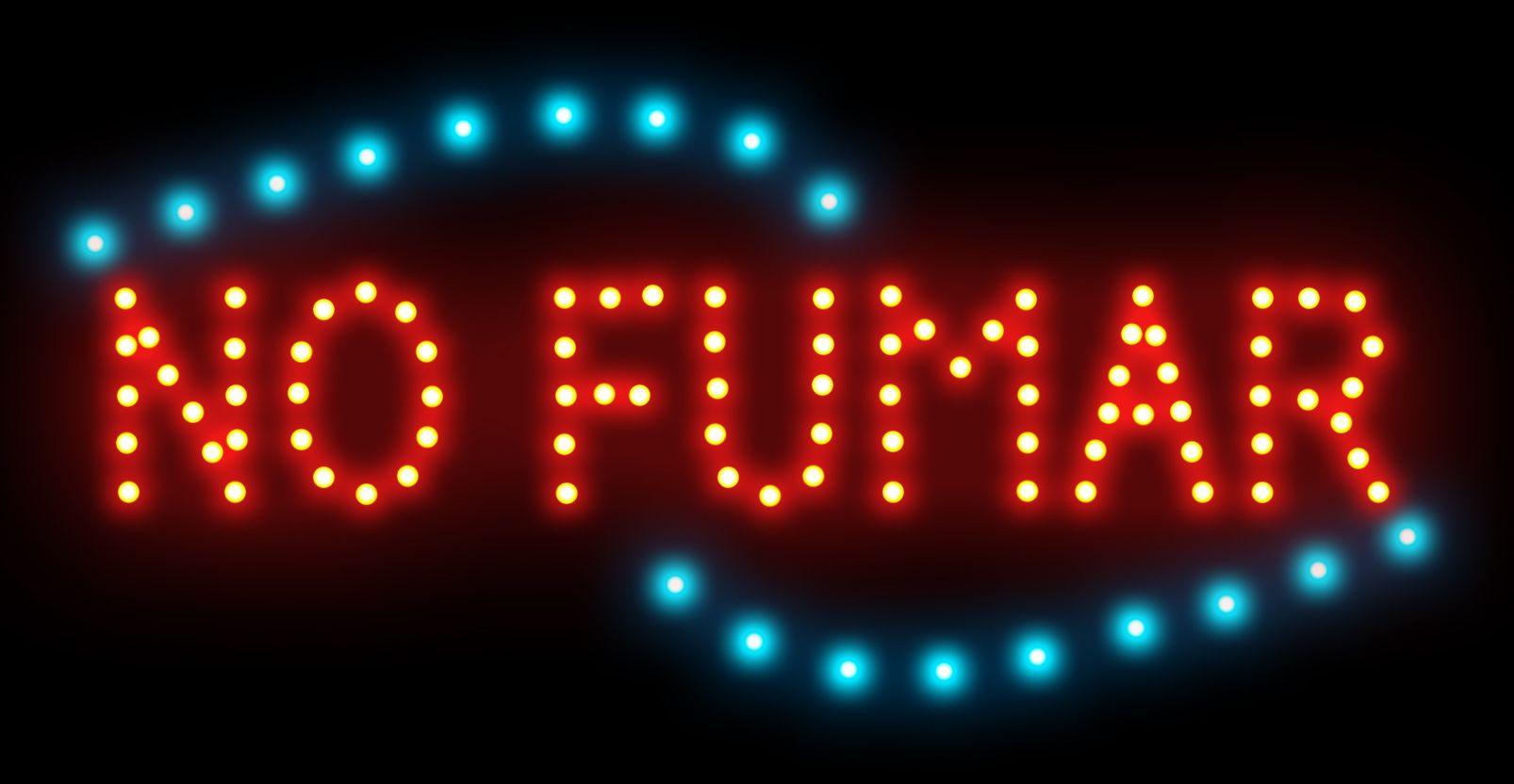 Spanisch Worte rauchverbot Neonschild maßgeschneiderten LED-Lichtzeichenlogo NO FUMAR Zeichen auffällige Slogans Innen-Größe 19 * 10 Zoll