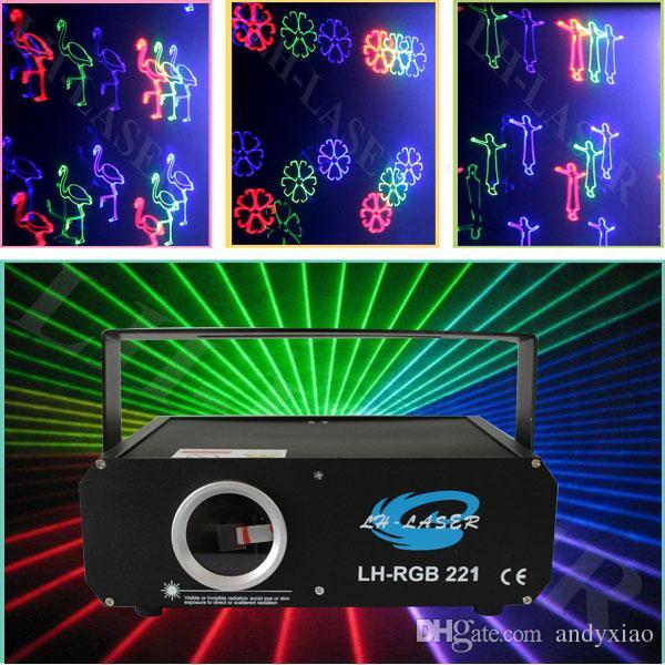 500MW RGB 풀 컬러 애니메이션 디스코 파티 레이저 조명 SD 카드 불꽃 놀이 빔 패턴 ILDA 인터페이스