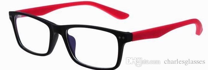 التجزئة الكلاسيكية العلامة التجارية النظارات الجديدة إطارات النظارات البصرية الملونة البلاستيك النظارات النظارات في نوعية جيدة جدا