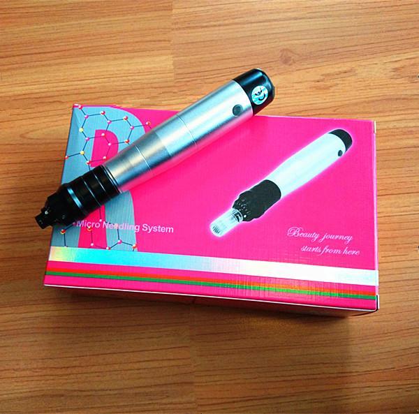 trasporto libero 12 aghi microneedle rullo elettrico penna derma con batteria ricaricabile come Iphone per la cura della pelle dermapen