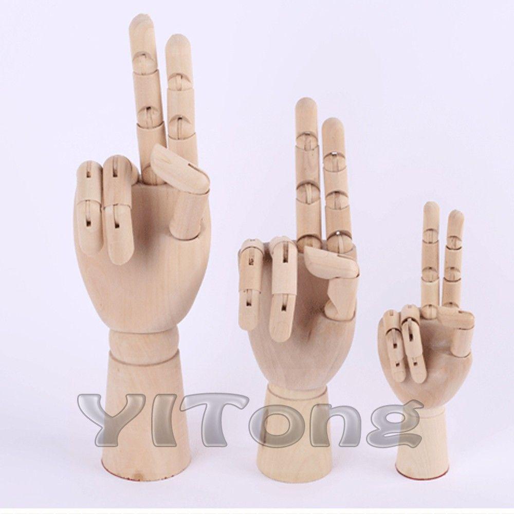 2018 8 20cm model hand fashion design wooden human hand toy flexible