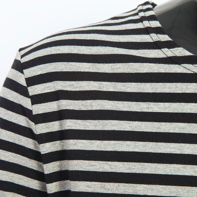 2016 Men t shirts tyga hip hop swag striped long sleeve t shirt extended kanye west men oversized tee shirt homme t shirt men (4)