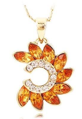 colgante de piedra de la joyería de cristal de la suerte (2,5 * 1,6 cm) collar de dama ((37 = extra 5 cm) (myyhmz)