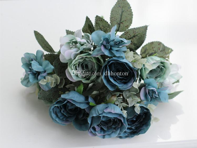 europeansim style artificial Rose Flowers Home decorations for Wedding Party Birthday decoration flower 13 flowers per piece