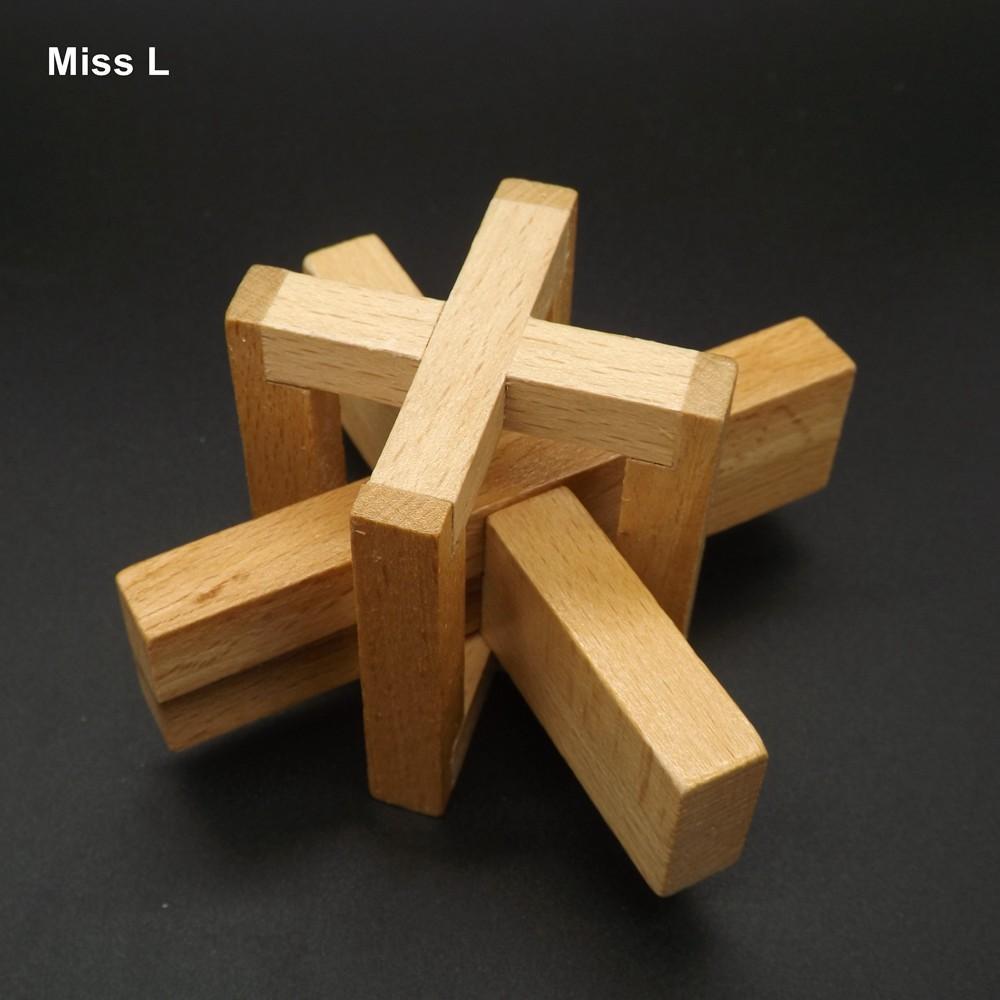 متعة الصينية التقليدية خشبية كونغ مينغ قفل الكبار الأطفال الاستخبارات لعبة هدية التدريس دعامة العقل لعبة