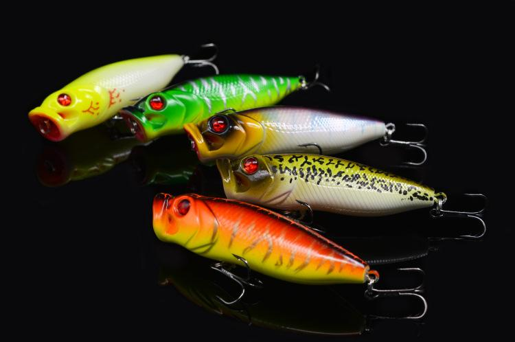 Fishing Popper Lure Hard Bait 16g 10.5cm Japan Series Topwater poper Artificial Lures 5 Pieces Free Shipping