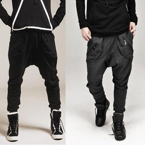 FG1509 Male HIPHOP Low Drop crotch pants men hip hop sarouel men jogger pants baggy trousers loose Cross-pants MEN outdoors harem pants