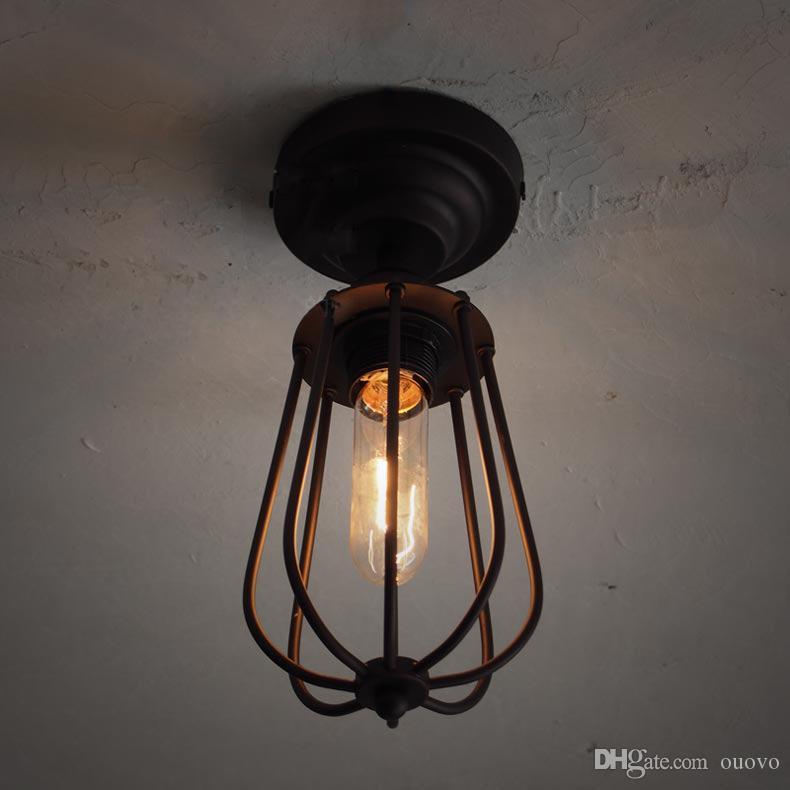لوفت rh الأمريكية الصناعية المعادن رؤساء واحد الجريب فروت ممر مصباح السقف المدخل شرفة البلاد الأمريكي ريفي أضواء السقف