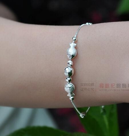 Быстрая бесплатная доставка браслет женский 925 чистого серебра piscean браслет маленькая рыба браслет подарок