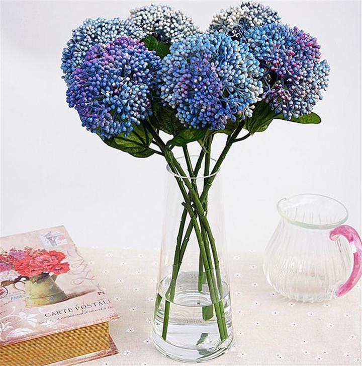 """Nieuwe Plastics vlezige plant 45cm / 17.72 """"Lengte 24p Kunstbloemen Acacia Fruit voor bruiloft middelpunt 4 kleuren beschikbaar"""