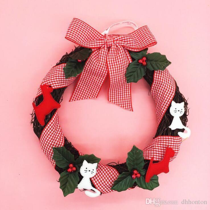 """ghirlanda di pino decorazioni natalizie vendita all'ingrosso 25cm / 9.8 """"natale ghirlanda di fiori decorativi ghirlanda di Natale regalo ghirlanda natale CG04"""
