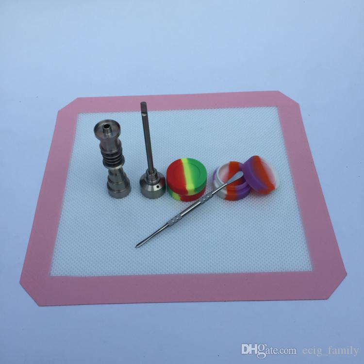 Силиконовый коврик Jar Slick Pad Нет Стик Shatter Proof Набор инструментов из нержавеющей стали Dabber Dab Jar Pad Kit