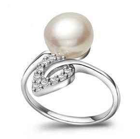 Оптовые красивые жемчужные кольца сплющивают 9-10 мм натуральный жемчуг кольцо можно регулировать размер