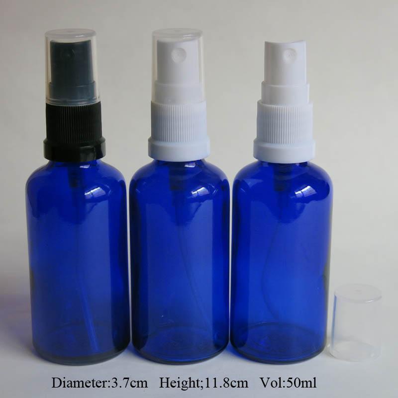 로션 스프레이 어, 에센셜 오일 스프레이 유리 병 공장 도매 10 PC 50 ml 블루 유리 병 도매