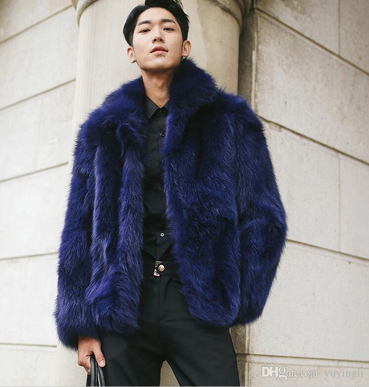 Mens Fur Faux Winter, Fur Coats Mens Faux
