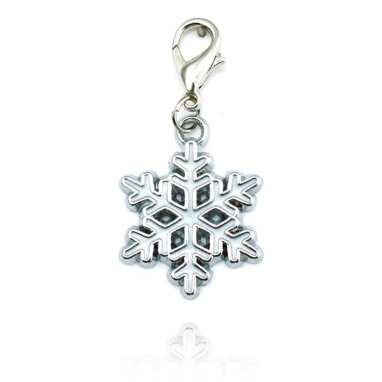 Pływające Charms Snowflake Charms Naszyjniki Wisiorki Biżuteria Moda Można zawiesić na łańcuchu i torebce Locket Charm DZ0255
