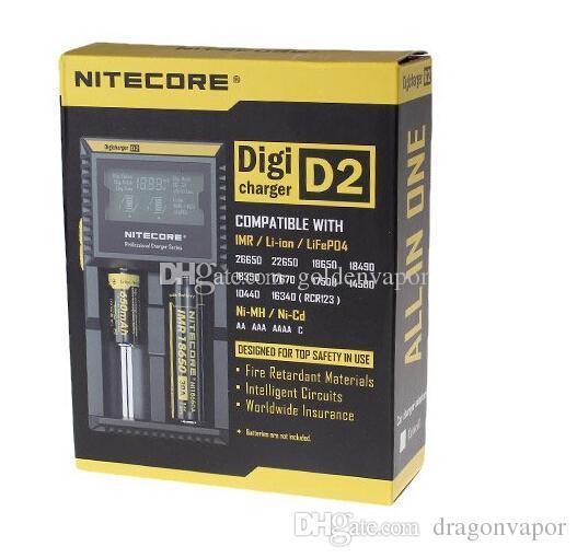 En Kaliteli Nitecore D2 Dijital Pil Şarj Sony Için Evrensel Akıllı LCD Ekran VTC5 18650 30A Samsung LG 18650 Pil