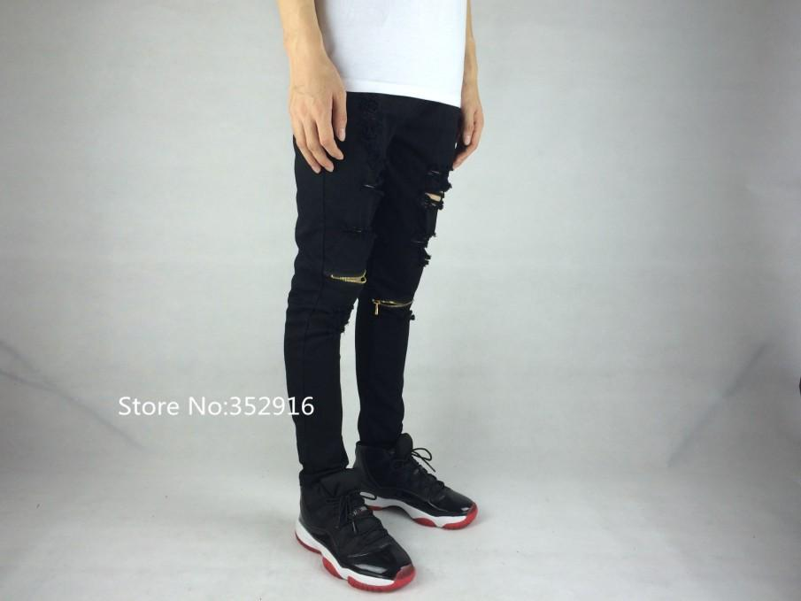 Ripped Jeans For Men Skinny Distressed Slim Famous Brand Designer ...
