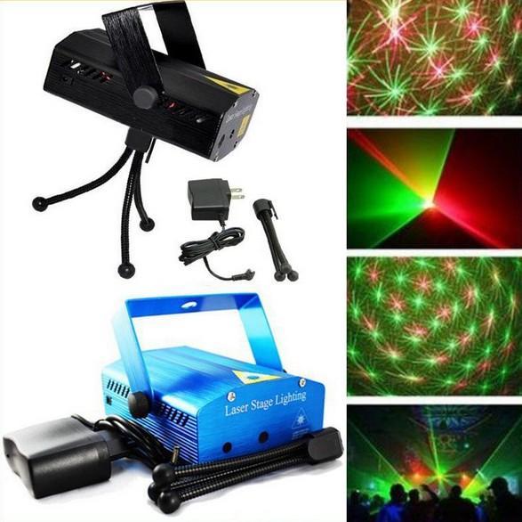 Mini Laser Stage Lighting 150mW mini Green&Red Laser DJ Party Stage Lighting Light Xmas Party Laser Lighting 110-240V 50-60Hz Blue,Black