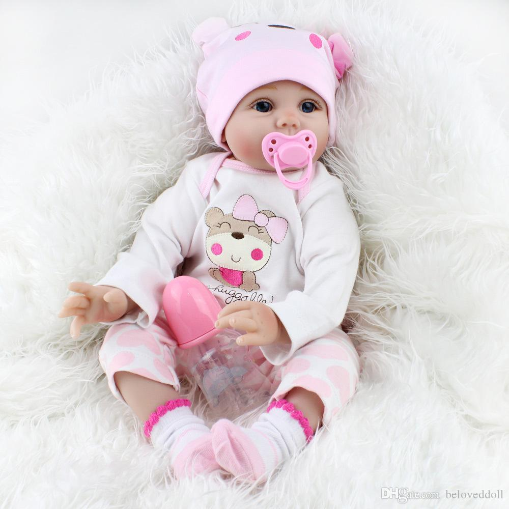 US Handmade Lifelike Reborn Girls Doll Full Body Vinyl Silicone Baby W//Clothes