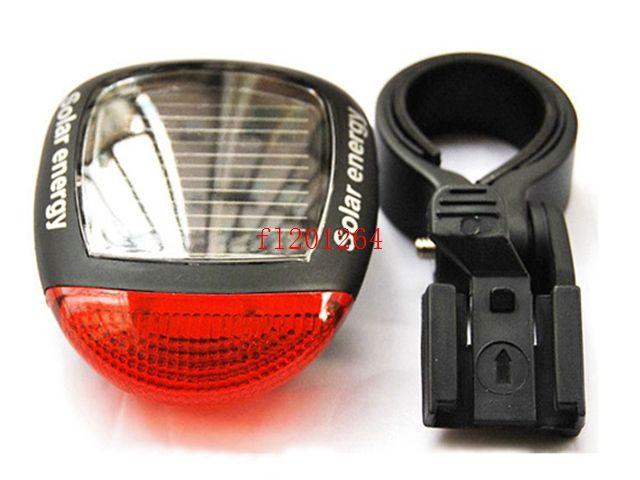 DHL Fedex Free Shipping Solar Power LED Bicycle Lights Bike Rear Tail Lamp Light Bike Safety Flashing Light Lamp,50pcs/lot