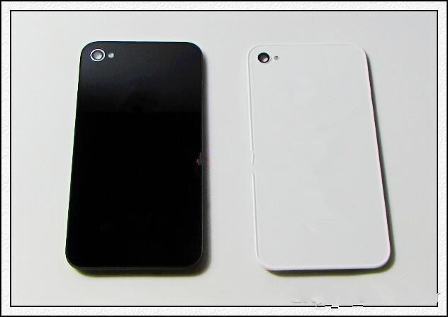 Tylna szklana bateria obudowa drzwiowa tylna część zamiennika z dyfuzorem flash dla iPhone 4 4G 4S najlepszej jakości