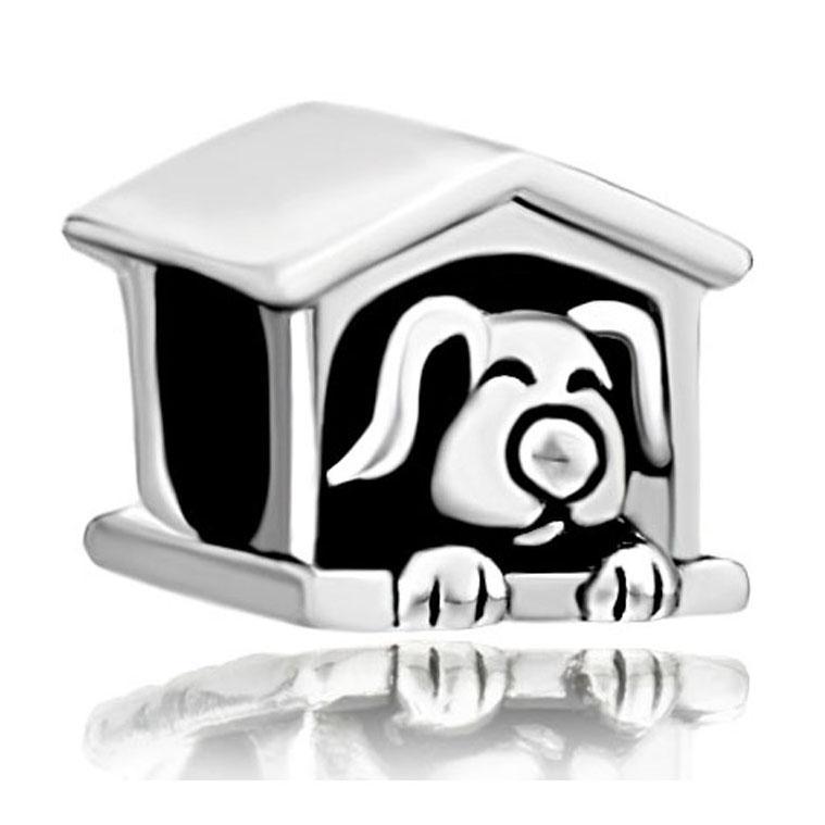 Сплав материал в родиевое покрытие собака кот шарик черная эмаль Шарм Fit Pandora европейский DIY браслет