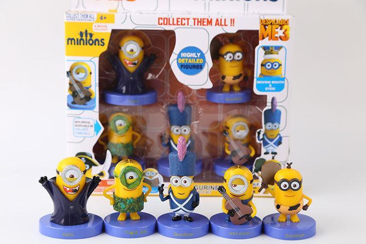 Çocuklar için Hediye 3D Despicable Me Minion Action Figure Despicable Me Bebekler Şekil Oyuncaklar Mini Oyuncaklar Çocuklar için Kutulu Chritmas Noel Hediye