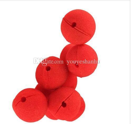 Vente en gros 1000 pcs / lots Party éponge Red Ball nez de clown magique pour Halloween Party mascarade Christamas Decors accessoires Decors