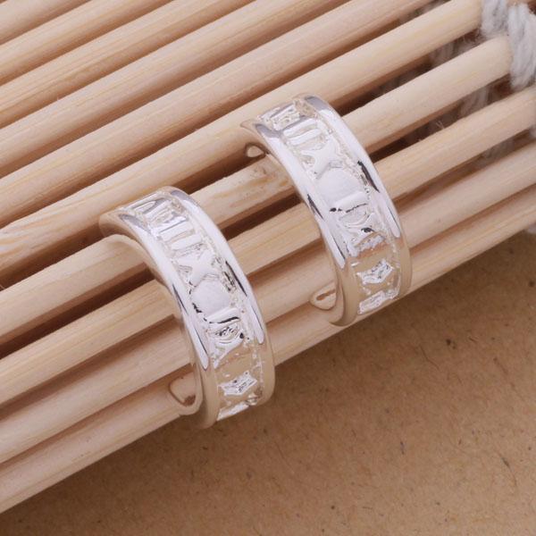 Мода (производитель ювелирных изделий) 40 шт много Рим круг серьги стерлингового серебра 925 ювелирный завод мода блеск серьги