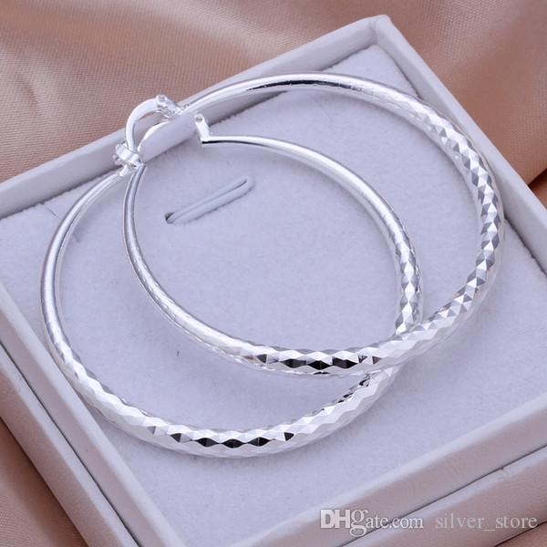 الاسترليني الفضة مطلي قسم دائري أقراط الماس DFMSE291، المرأة 925 الفضة استرخى الثريا أقراط 10 أزواج الكثير مصنع