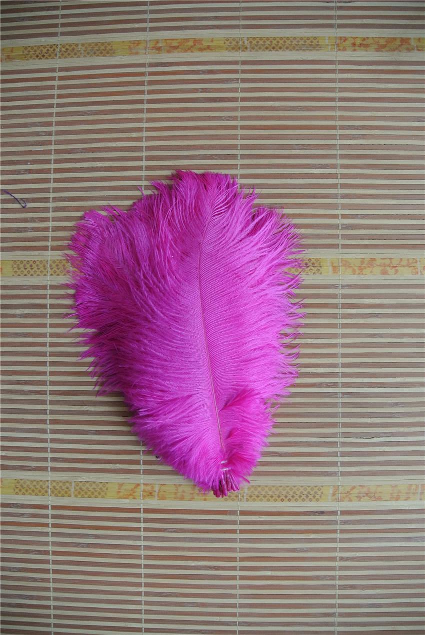 100 PC 결혼식 중심 장식 웨딩 파티 테이블 공급 장식 이벤트 공급을위한 5-8 인치 핫 핑크 타조 깃털