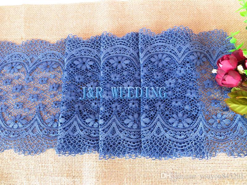 50 шт. темно-синий спандекс лайкра кружева стул группа с пряжкой для использования на День Рождения свадебные украшения мода кружева стул пояса
