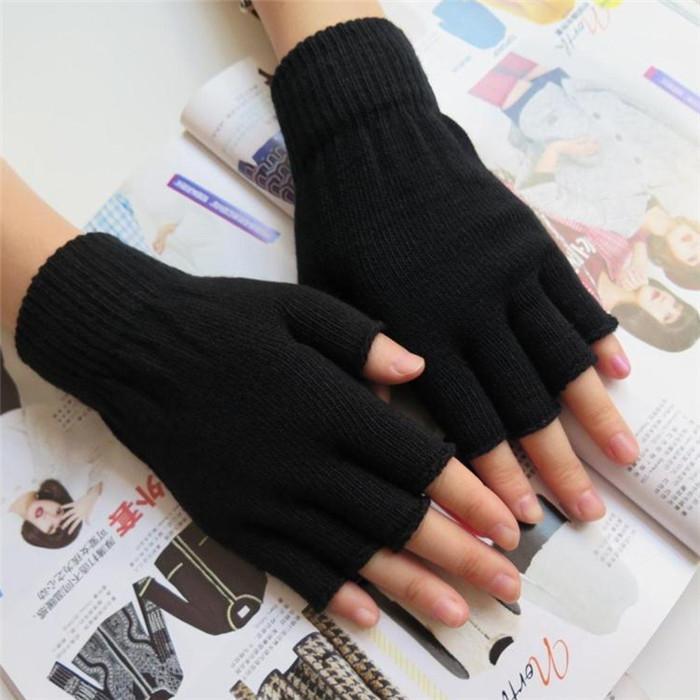 2018 New Arrivals Men Women Half Finger Fingerless Gloves Mittens