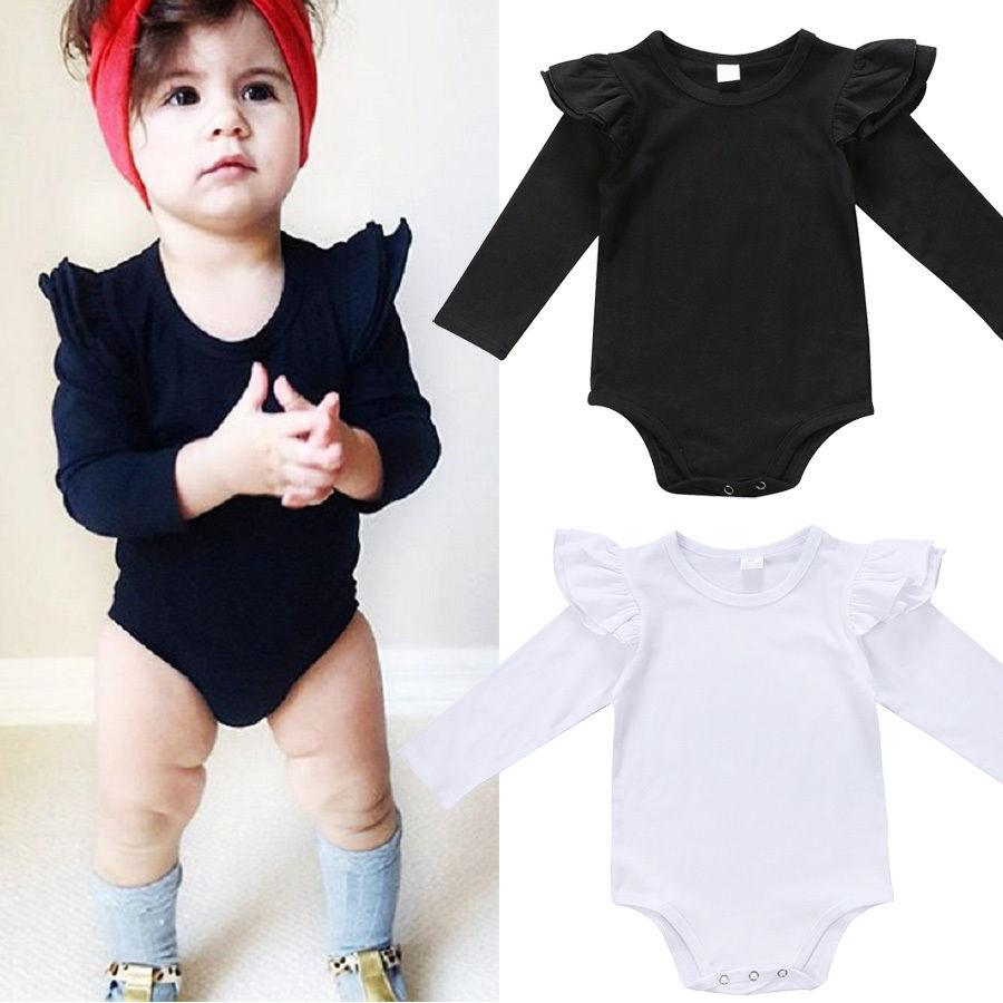 UK Newborn Baby Girl Long Sleeve Romper Jumpsuit Bodysuit Autumn Set Clothes Top