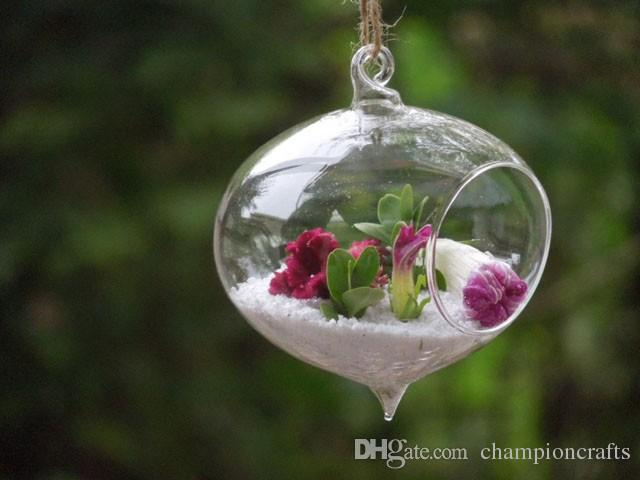 Of 4 Chinese Style Onion Shaped Glass Hanging Planters/Air Plants Terrarium  For Fashion Home Decoration/Garden Decor/Green Gifts From Championcrafts,  ... - Of 4 Chinese Style Onion Shaped Glass Hanging Planters/Air Plants