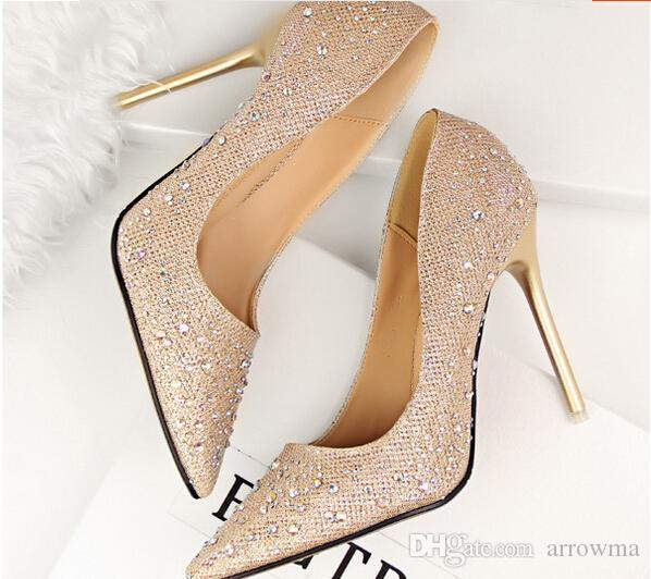 2015 Rhinestone Wedding Shoes Bridesmaid Bridal Pink Cheap Light Sky Blue Black Deep Grey