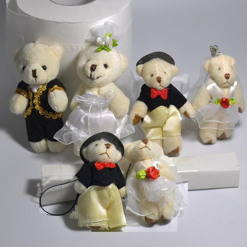 *NEW* CUTE WEDDING BEARS BRIDE AND GROOM TEDDY BEAR SOFT PLUSH TOYS 15CM