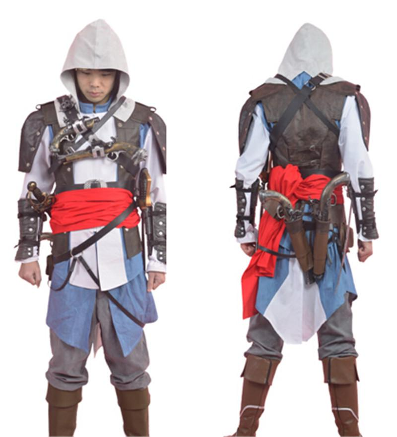 2015 Edward Kenway Costume Assassins Creed Iv 4 Black Flag Adult Man Cosplay Assassin Creed Costume For Halloween Dropshipping Costumes For 3 Friends Costumes For 4