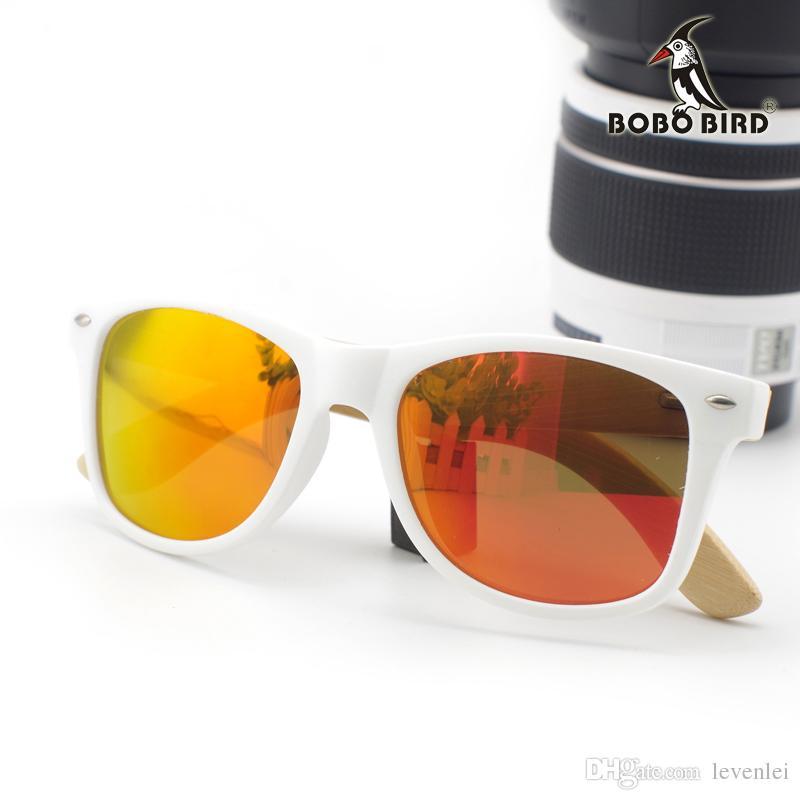 Бобо-птица ручной работы солнцезащитные очки для дешевых новых красочных, как женщины с мужчинами Len Best Drop OEM солнцезащитные очки бамбука Примите подарок 2017 доставку AR DTFM